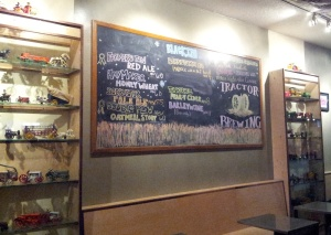 The best place to grab a pint in Nob Hill is Tractor's tap room.