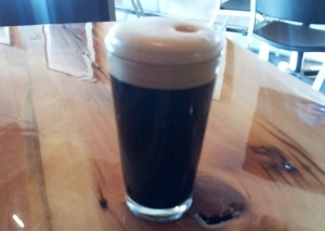 "The good folks at Taos Ale House saved E-Rock and I pints of their Nitro Patty (Irish) Stout. It was our first ""we've arrived!"" moment."