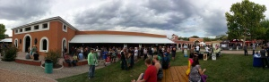The crowd gathered at the Villa Hispana for last year's New Mexico Brew Fest.