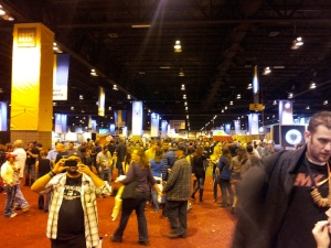 Stoutmeister took a shot of the final night of GABF in one direction while E-Rock, bottom left, shoots in the other direction. It was that huge.
