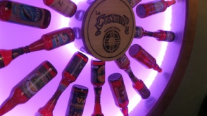 The Wheel of Beer at La Cumbre. It doesn't have anything to do with this story, it's just fun to look at as a picture.