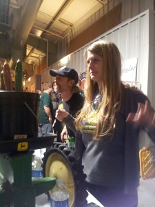 It's always a party at the Tractor booth with Skye and Dave, or whoever they send.