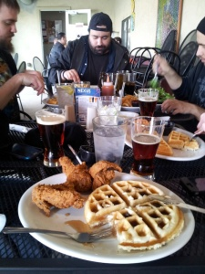 Chicken and waffles and beer at Nexus. What more do you really need in life?