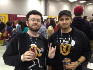 We're not saying you need to make ridiculous pretzel necklaces like the ones we had at the NM Cup, but bring something to help cleanse your palate in between samples.