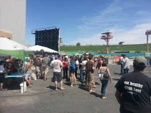 The crowd was great with all the space to move around in at Blues & Brews.