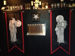 Metalheads opened a brewery and decorated it accordingly.