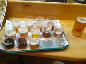 E-Rock tackled this sample tray for the third round of the IPA Challenge at Santa Fe Brewing.