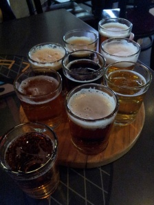 Too many hours have passed since we had this sampler to remember which beer was which. The important thing is that they were all good.