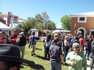 The crowd at Brew Fest kept getting bigger as the day went on, but it was a friendly bunch of beer lovers on hand.