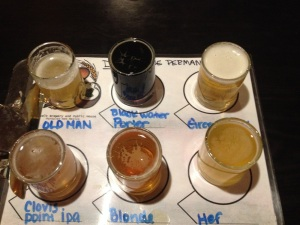 The sampler at Roosevelt Brewing in Portales offered up some surprising beers.