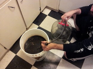 Blacker than the blackest black: transferring to secondary fermentation