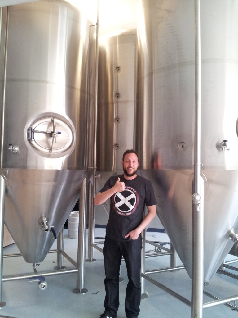 Bosque co-owner Gabe Jensen gives thumbs up to the new brewing bills that passed through the state legislature.