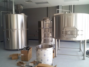 The new brewing system is almost ready for use.