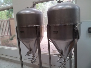 These mini-tanks can be used for ciders, meads, or specialty beers.