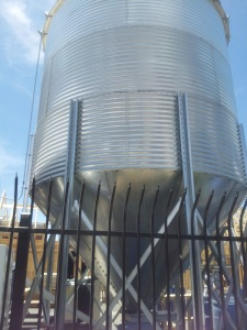 A brewery as big as Lumberyard needs a jumbo-sized silo.