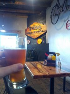 The Mogul Imperial IPA was a fine choice at Taos Ale House.