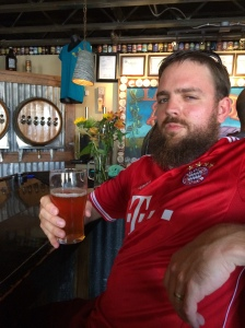 Franz Solo was more than pleased with his pint of Full Nelson DIPA.