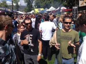 There was quite the crowd at the San Juan Brewfest.