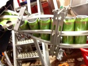 Mother Road Mobile Canning starts the line for Second Street's Pivotal IPA.