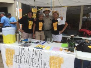 We borrowed this photo of the good folks at the Los Alamos Beer Co-op from their Facebook page. We don't think they'll mind.