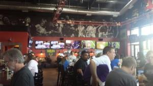 Rock & Brews certainly has a theme with its wall art.