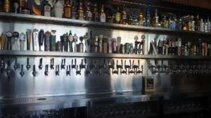 The beer selection at Rock & Brews is surprisingly extensive.