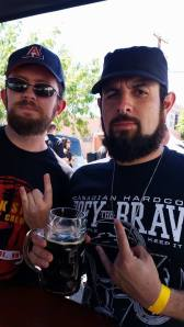 Yes, we wore black to an outdoor beer festival.