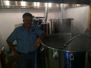 Brewer Jerry Grandle has been hard at work in advance of Friday's soft opening.