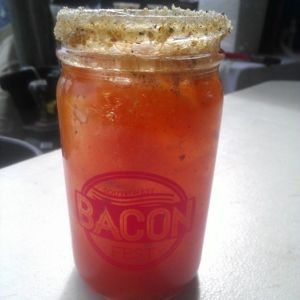 It's doesn't look like a beer, but that's Chama River's BLT (Bacon, Lager, and Tomato) from last weekend's Bacon Fest.