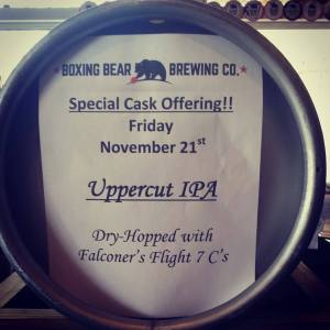 Boxing Bear celebrates Friday with a new cask offering. (Photo courtesy of Boxing Bear)