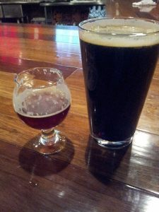 Red Door's Strong Scotch Ale is on the left. Starting today you can get a full pint of it just like the Paint it Black Milk Stout on the right.