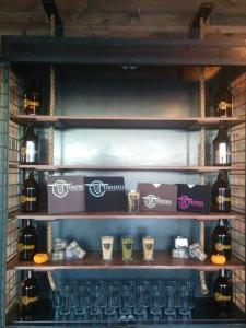 The merch cabinet at Ponderosa is filling up. (Courtesy of their Facebook page)