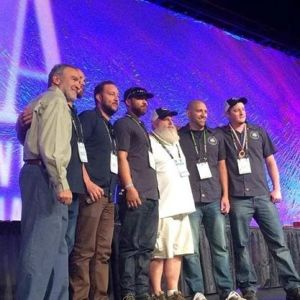 The Bosque staff poses with their bronze medal at the 2014 Great American Beer Festival. (Photo courtesy of Bosque)