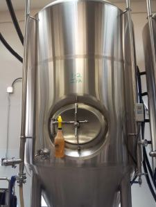 Boxing Bear's new 20-barrel fermenter is already in use.