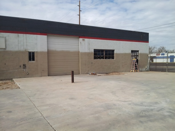 The outside of the future Rio Bravo Brewing. This area to the east will eventually be an outdoor patio.
