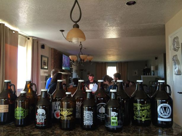 The growlers were filled with care, in hopes that a stout challenge victory would soon be there.