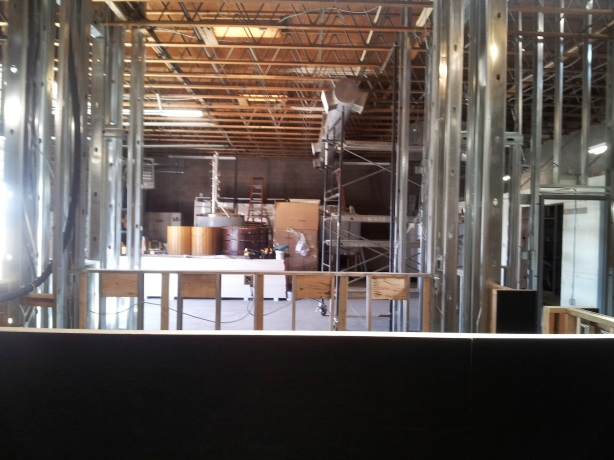Patrons will be able to look behind the bar through a glass wall to observe the brewing and distillation process.