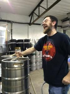 WOWZERS: Stoutmeister taking himself seriously.  We did have a pint or two...