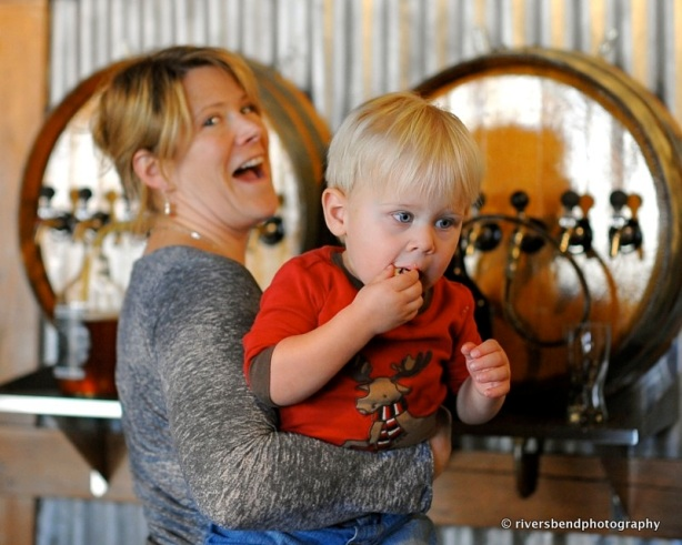 Come on, admit you're jealous, you wanted to grow up in a brewery, too, just like Miles here.