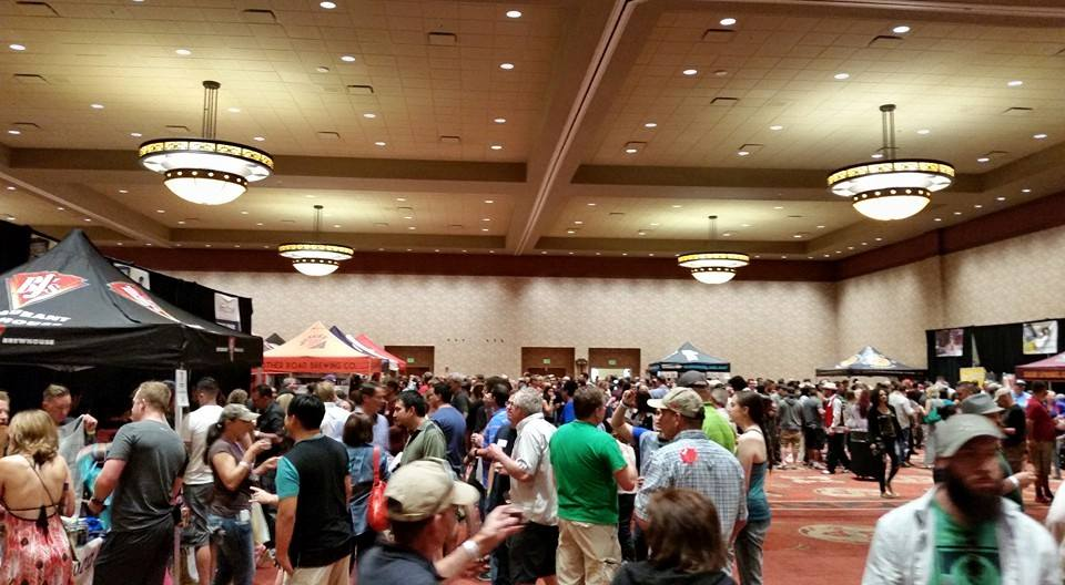 The crowd was bustling at Blues & Brews, but it was a happy pack of beer drinkers.