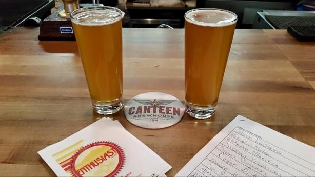 ABQ Beer Week kicked off with the simultaneous release of the 505 Collaboration Session IPA, left, and Canteen's Hops-pitality IPA.