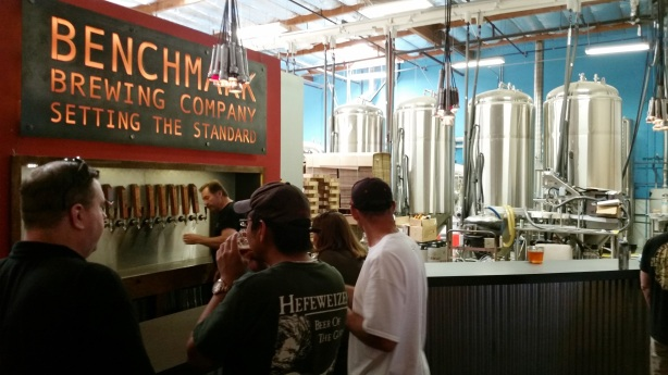 AmyO is making us all jealous again as she got to tour more breweries in San Diego, like Benchmark.
