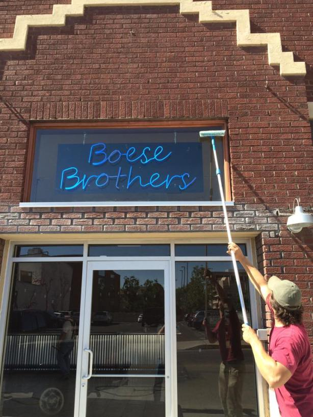 We all get excited when we see a new brewery's signage going up. (Photo courtesy of the NM Brewers Guild)