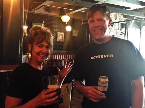 Carrie from Boulder Beer attempts to convert a long-time Hamm's drinker to the bourbon barrel-aged Double D-licious Shake Chocolate Porter.