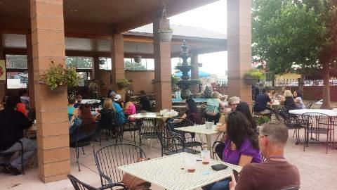 Cazuela's spacious patio was perfect for the event.