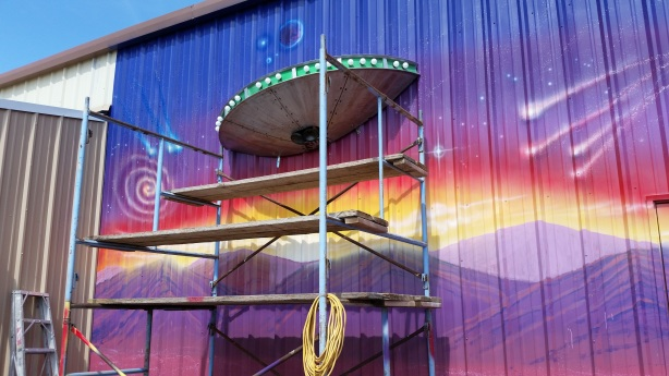 The popular alien theme will even be seen on the walls near the beer garden.