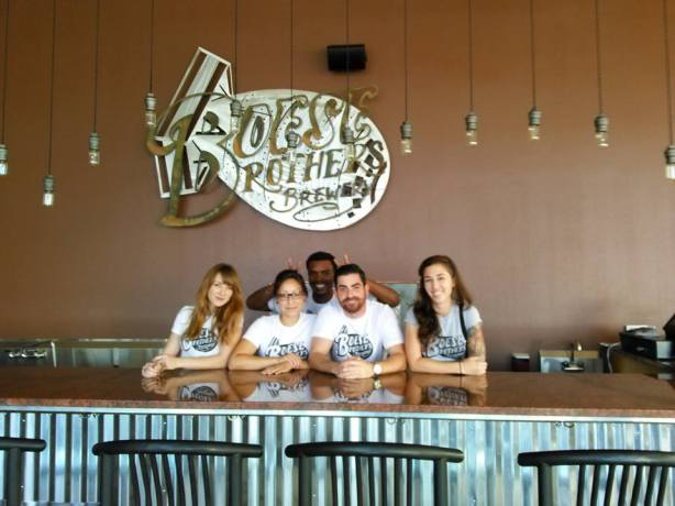 The staff is ready at Boese Bros. Brewing.
