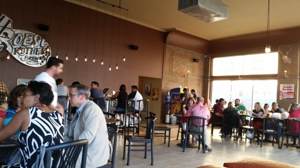 Even for the soft opening, the taproom filled up quickly.