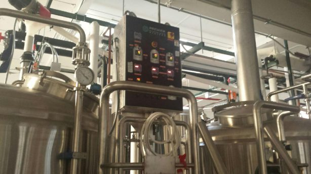 The brewhouse control panel.