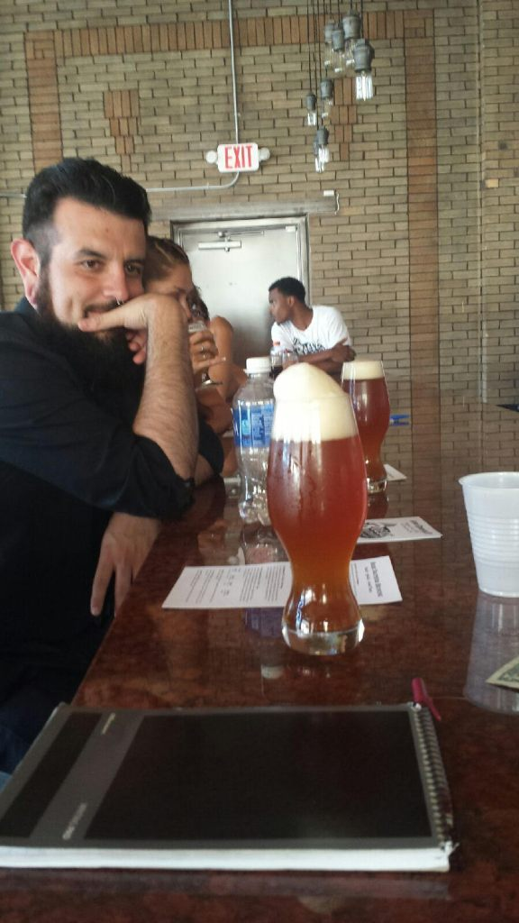 Brandon has his eye on the heady Steampunk Lager.